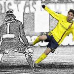 Messi, un jugador de dibujos animados