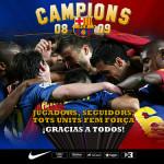 Barça Campeón de Liga 2008-2009